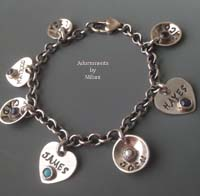 Most Valuable People (MVP) Bracelet Children Names Family Birthstone Setting Sterling Silver
