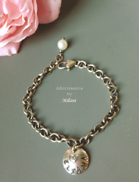 Child Name Charm Bracelet Personalized Sterling Silver Rustic