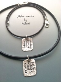 Daddy Necklace Children Names Husband Jewelry Sterling Silver Personalized Tags