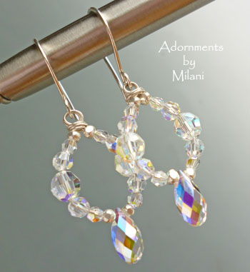 Gilded - Crystal Bridal Earrings Sparkly Wedding Jewelry