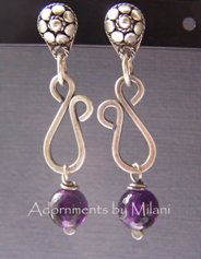 Intuitive Purple Amethyst Earrings Eclectic Artisan