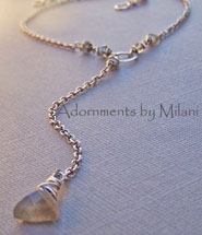 Morning Haze - Labradorite Necklace Gemstone Sterling Boutique Jewelry