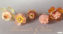 Peach Profusion Rings Bridesmaids Maid of Honor Sterling Silver Bridal Gifts