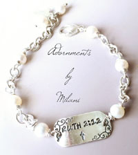 Gratefulness Bracelet Friendship Christian Bible Verse Sterling Silver Beaded