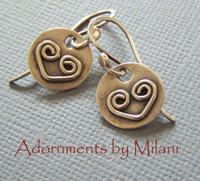 Two Hearts Are Better Than One Earrings & Matching Necklace Valentine Sterling Silver Artisan